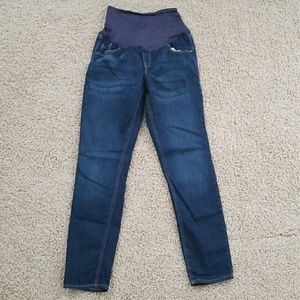 Old Navy full panel maternity skinny jean denim